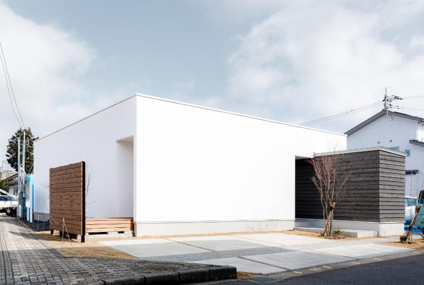 写真:栄町平屋モデルハウス外観