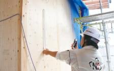 構造躯体施工完了後外壁防水シート施工前